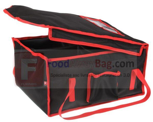 Sac professionnel de livraison repas grande contenance jusqu'à 12 boites repas ou Lunchbox, disponible isotherme ou chauffant