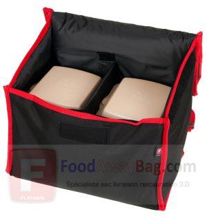 Exemple comment remplir Sac A dos livraison pour 6 boites repas Lunchbox
