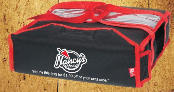 Sac pizza ou sac de livraison personnalisé avec votre logo
