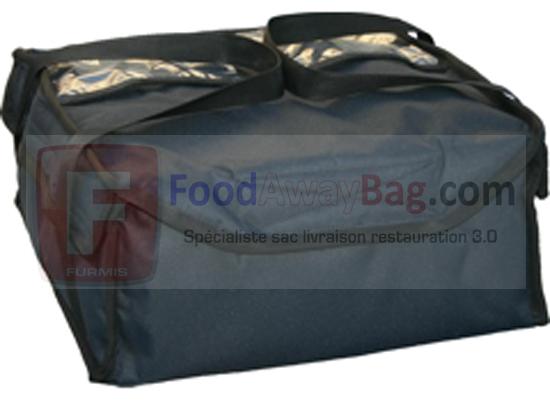 Sac isotherme spécial livraison de soupe contenance 18 bols de soupe chaude ou froide