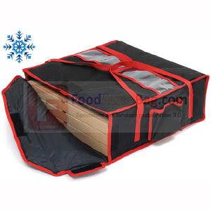 Exemple avec boite pizza, Sac de livraison isotherme pour 4 pizza taille XL