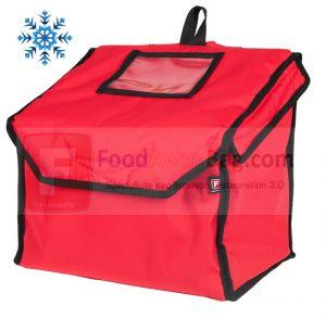 Sac à dos de livraison de repas et plat ou traiteur isotherme existe en version chauffant, vue de face