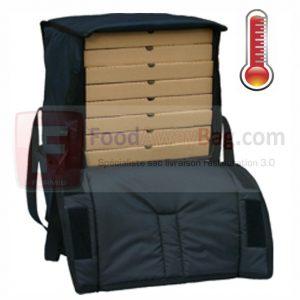sac pizza grande contenance capacité 14 pizza disponible isotherme et chauffant