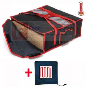 sac de livraison de pizza pour 4 pizza 50cm isotherme et chauffant