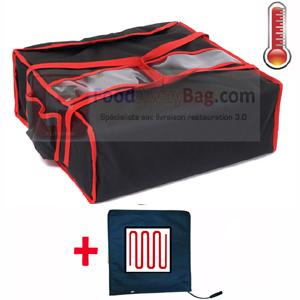 sac à pizza chauffant pour 4 pizza boites 60cm