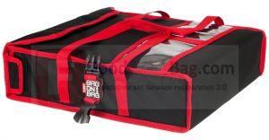 Sac transport isotherme ou chauffant 2 pizza avec système Bag-on-Bag pour empiler les sac de livraison