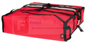 Sac pour 2 pizza isotherme ou chauffant fabrication main Europeenne