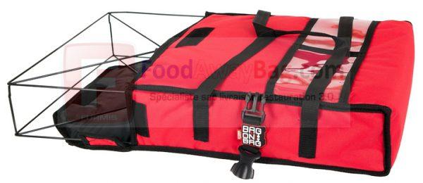 Exemple de sac pour 2 pizza avec armature permettant de garder une forme et protéger les produits lors du transport