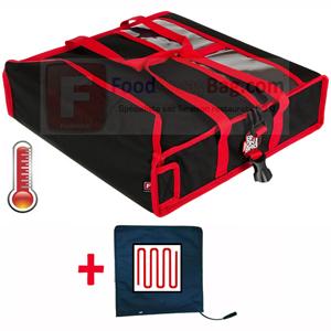 sac pour livreur de pizza capacité 2 pizza de 45cm, existe en version isotherme et chauffant