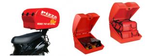 Exemple de présentation de caisson de livraison scooter ou moto